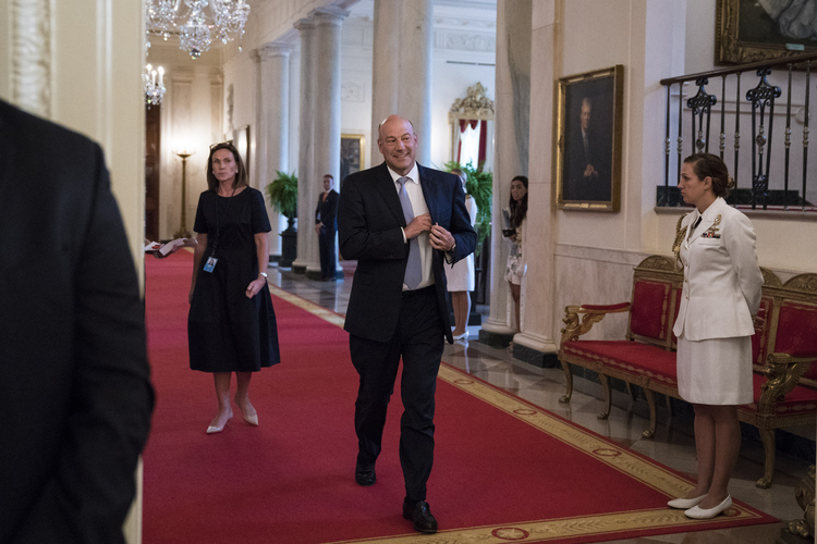 Gary Cohn arrives at the White House. (Jabin Botsford/The Washington Post)