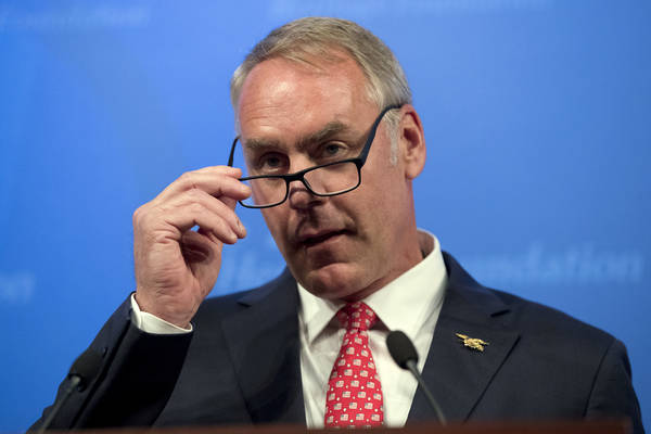 Interior Secretary Ryan Zinke. (AP Photo/Andrew Harnik)