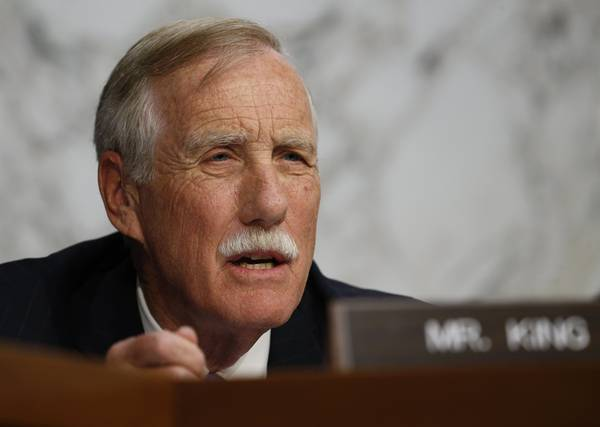 Sen. Angus King (I-Maine) (REUTERS/Kevin Lamarque)