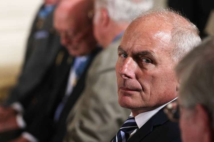 John Kelly is seen prior to a Medal of Honor ceremony at the White House. (Alex Wong/Getty)