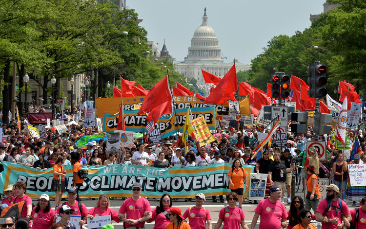 Last month's Climate March (Reuters/Mike Theiler)/p