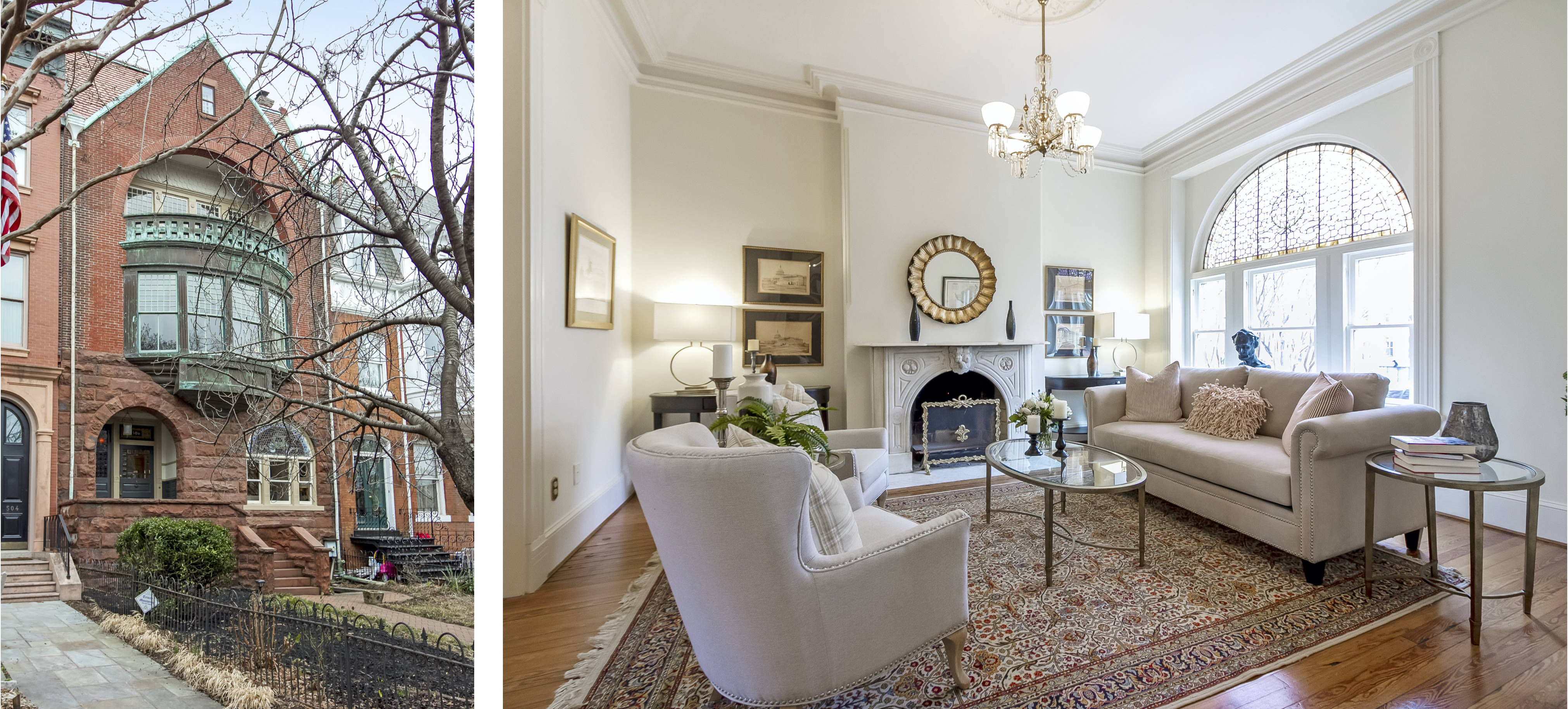 James Swanson's Capitol Hill rowhouse – for sale for about $3.6 million – was elaborately redesigned in the 1880s by Washington architect Robert Stead. (Chris Zimmer/Urban Capitol Photography)