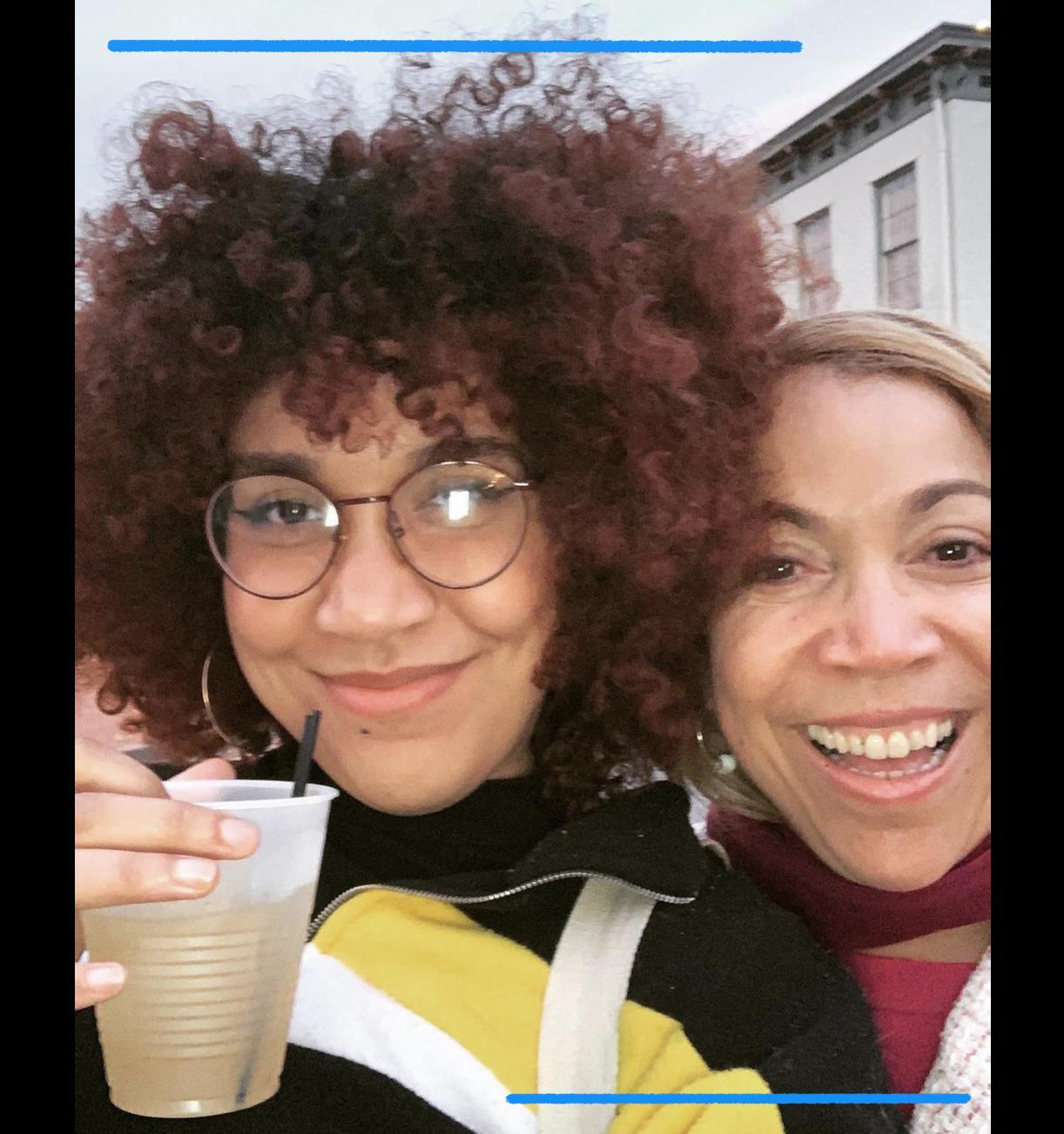 Jennessy Herrera, left, and Evelyn Herrera in Savannah, Ga., in 2019. (Family photo)