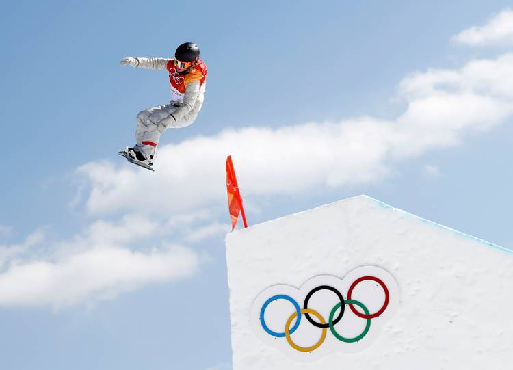 Jamie Anderson of the United States competes in the women's slopestyle event. (Issei Kato/Reuters)
