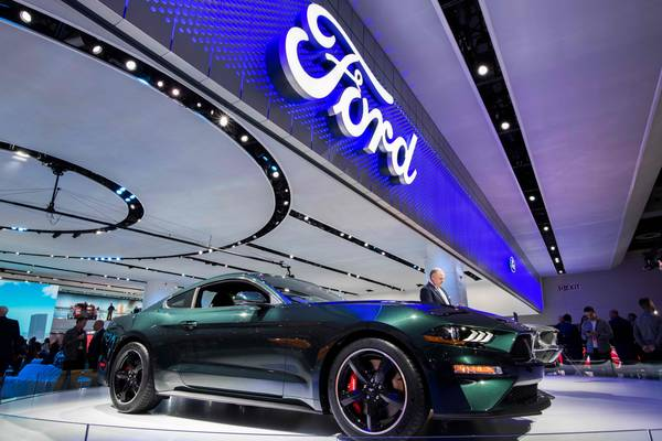 The 2019 Ford Mustang Bullitt is pictured during the 2018 North American International Auto Show (NAIAS) in Detroit, Michigan. (AFP PHOTO / Jewel SAMADJEWEL SAMAD/AFP/Getty Images)