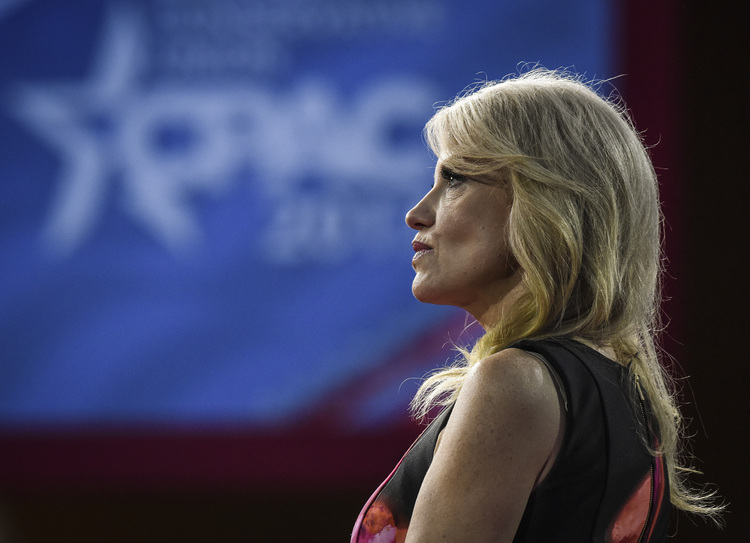 Kellyanne Conway speaks at CPAC. (Bill O'Leary/The Washington Post)/p