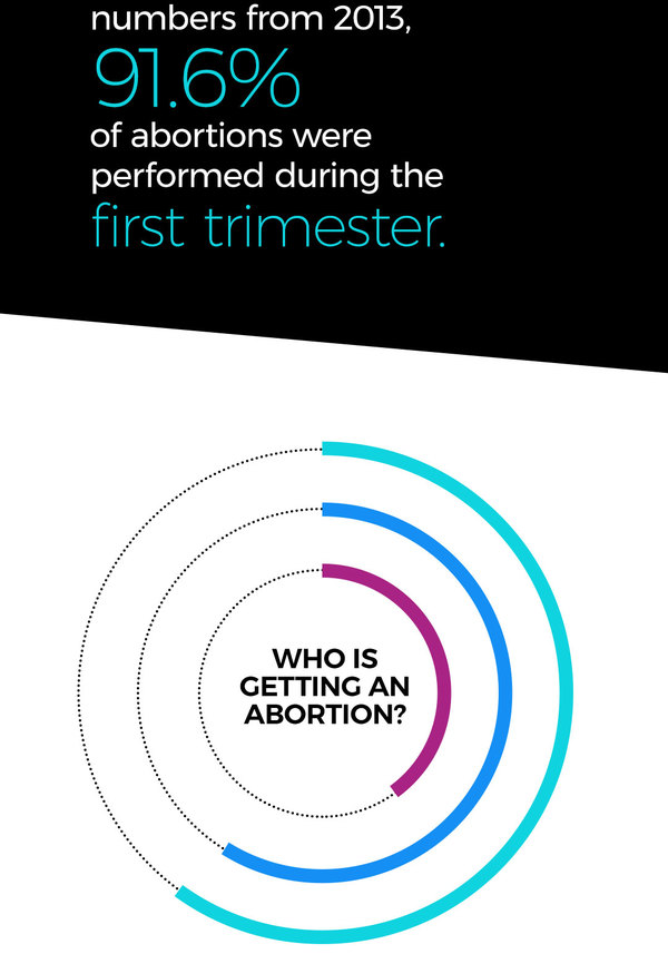 91.6 percent of abortions were performed during the first trimester.