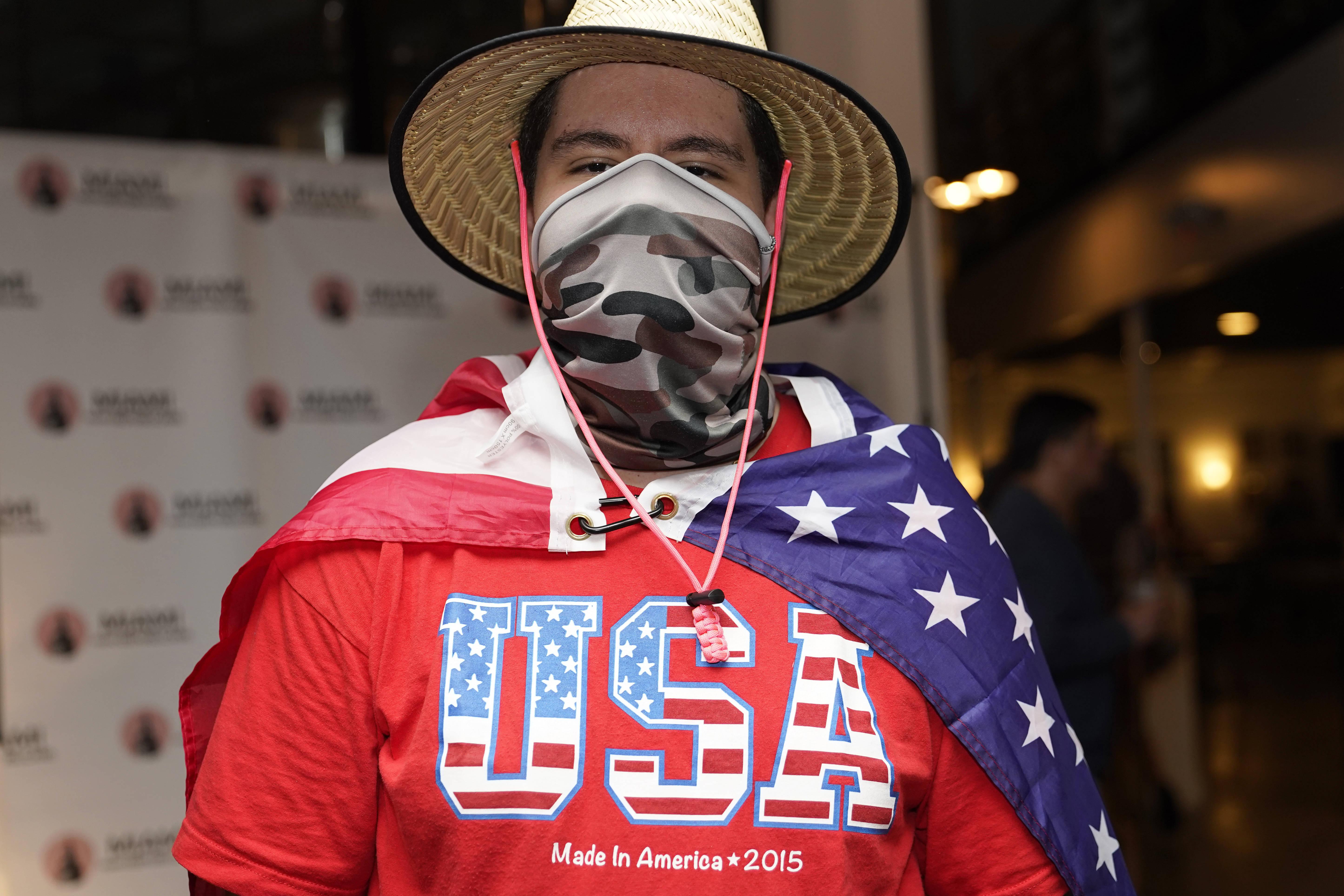 A Trump supporter in Miami. (Lynne Sladky/AP)