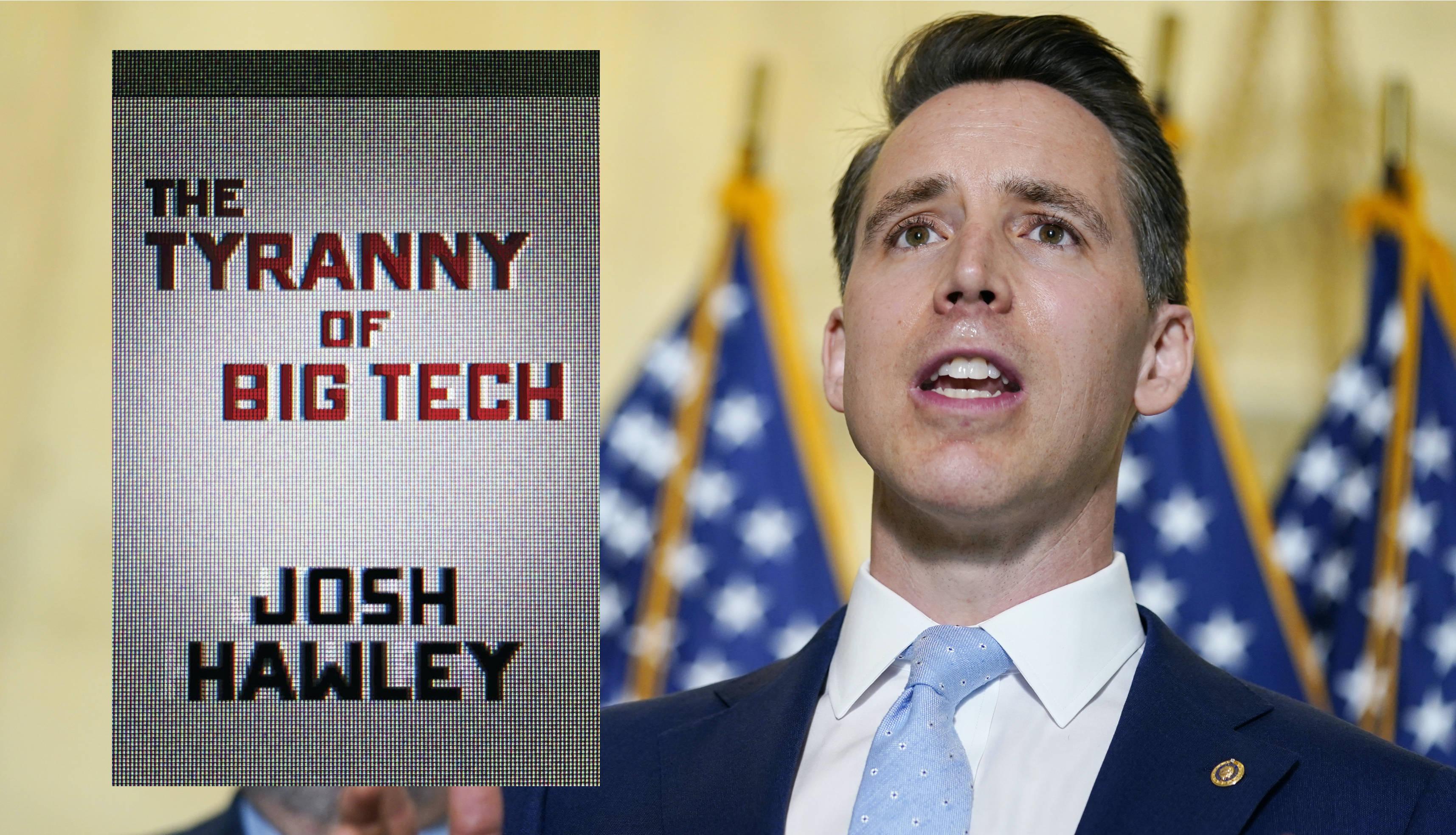 Regnery Publishing; Sen. Josh Hawley (R-Mo.) in Washington, April 13, 2021. (AP Photo/Susan Walsh)