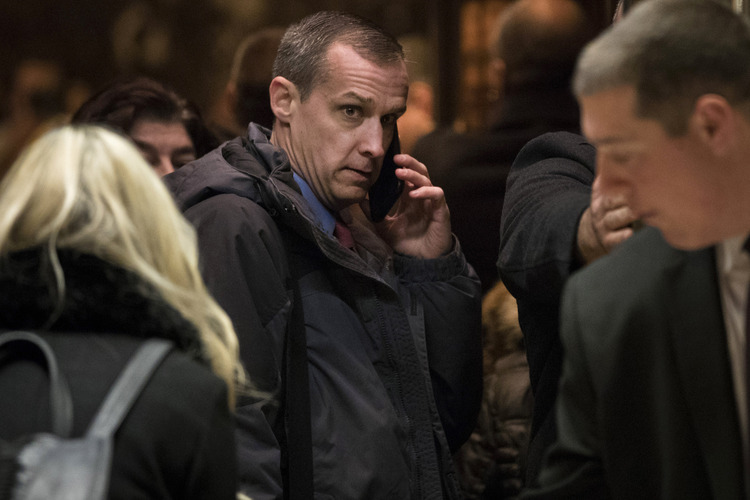 Corey Lewandowski arrives at Trump Tower in November. (Drew Angerer/Getty Images)/p