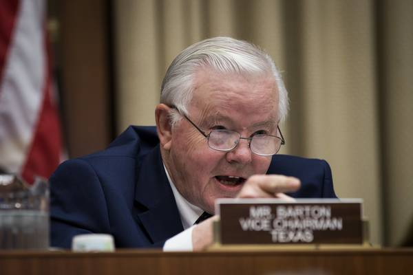Rep. Joe Barton (R-Tex.) questions witnesses during a House Energy and Commerce Committee hearing concerning federal efforts to combat the opioid crisis on Oct. 25. (Drew Angerer/Getty Images)