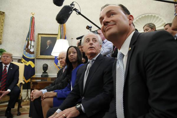 Sen. Mike Lee (Utah) is the topRepublican on the Joint Economic Committee. (Alex Brandon/AP)
