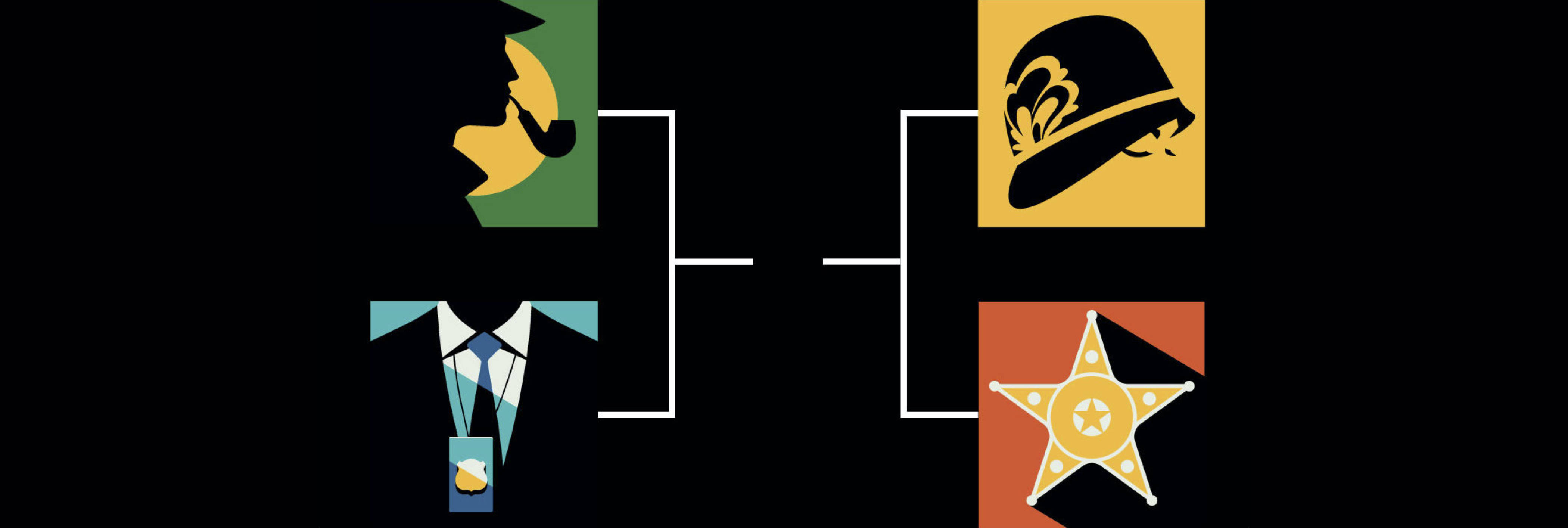 March Madness: Pick the best fictional detective (Illustrations by Bo Lundberg/Illustration Division)