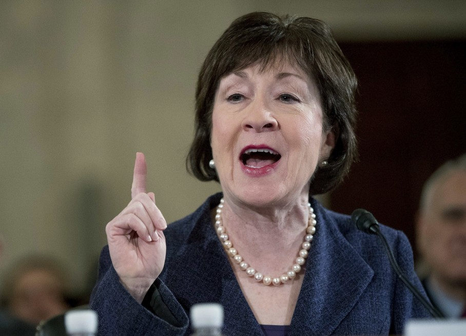 Susan Collins (R-Maine) is one of the swing votes on health care. But she  is not in Mitch McConnell's working group. (AP Photo/Andrew Harnik, File)