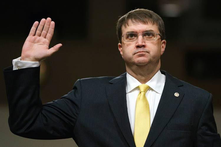 Robert Wilkie is set to be sworn in Monday as VA secretary. (Carolyn Kaster/AP)