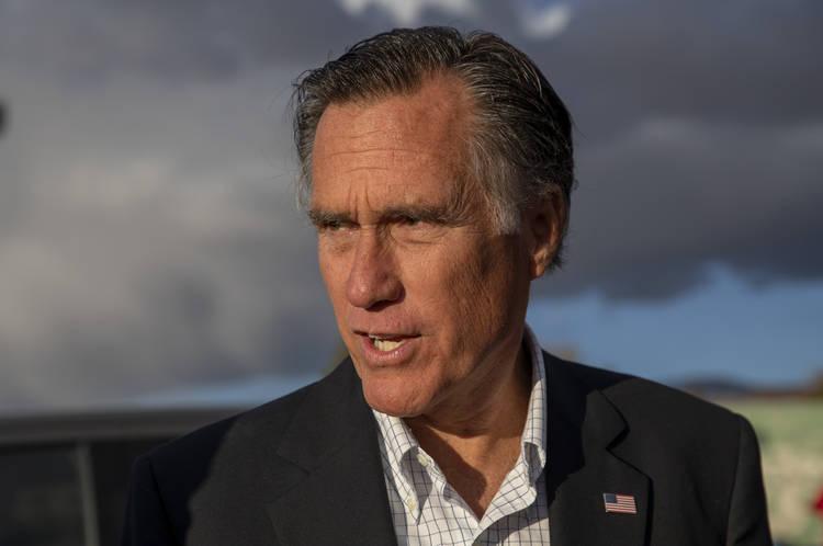 Mitt Romney visits Bountiful, Utah. (Kim Raff/Bloomberg News)