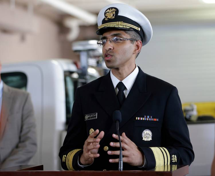 Vivek Murthy speaks during a news conference at a mosquito control office in Orlando, Fla. (John Raoux/AP)
