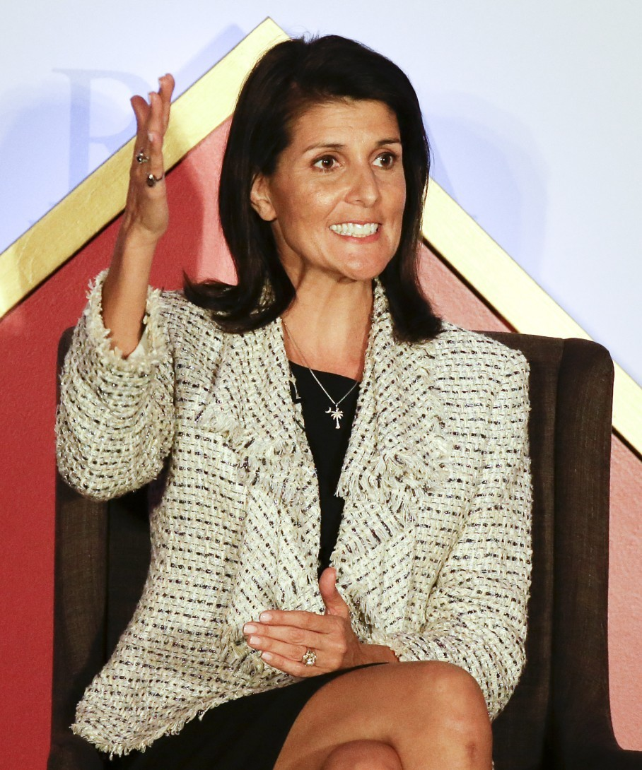cbff0bf2864 Nikki Haley celebrates Trump s win at the RGA meeting yesterday. (John  Raoux AP)