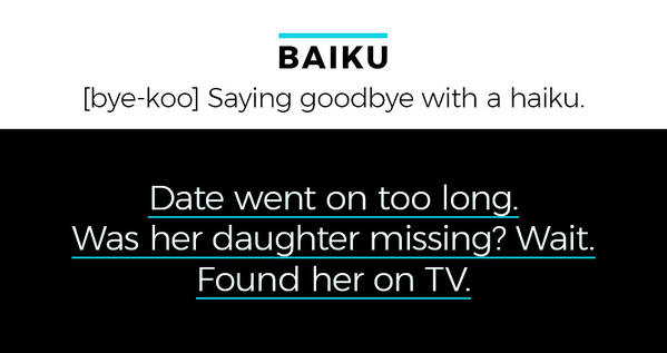 Baiku Date went on too long. Was her daughter missing? Wait. Found her on TV.