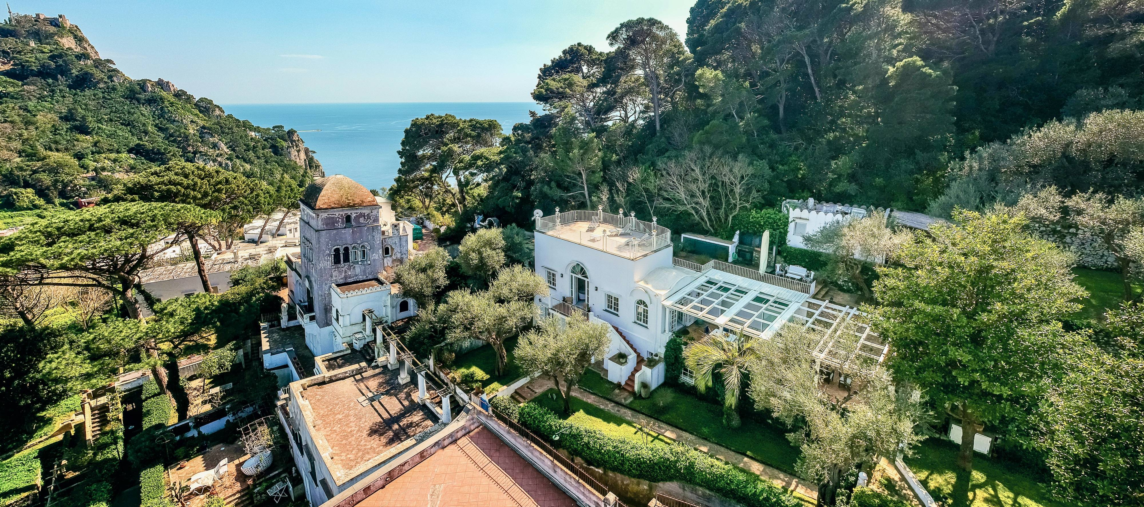 Villa Quattro Venti, once owned by friends of D.H. Lawrence, is for sale on the island of Capri, Italy. (Courtesy of Lionard)