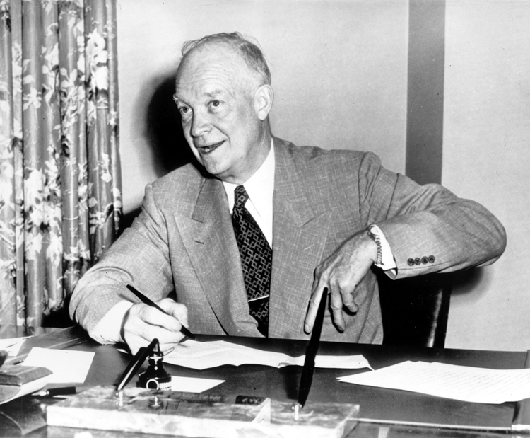 Dwight D. Eisenhower (AP)</p>