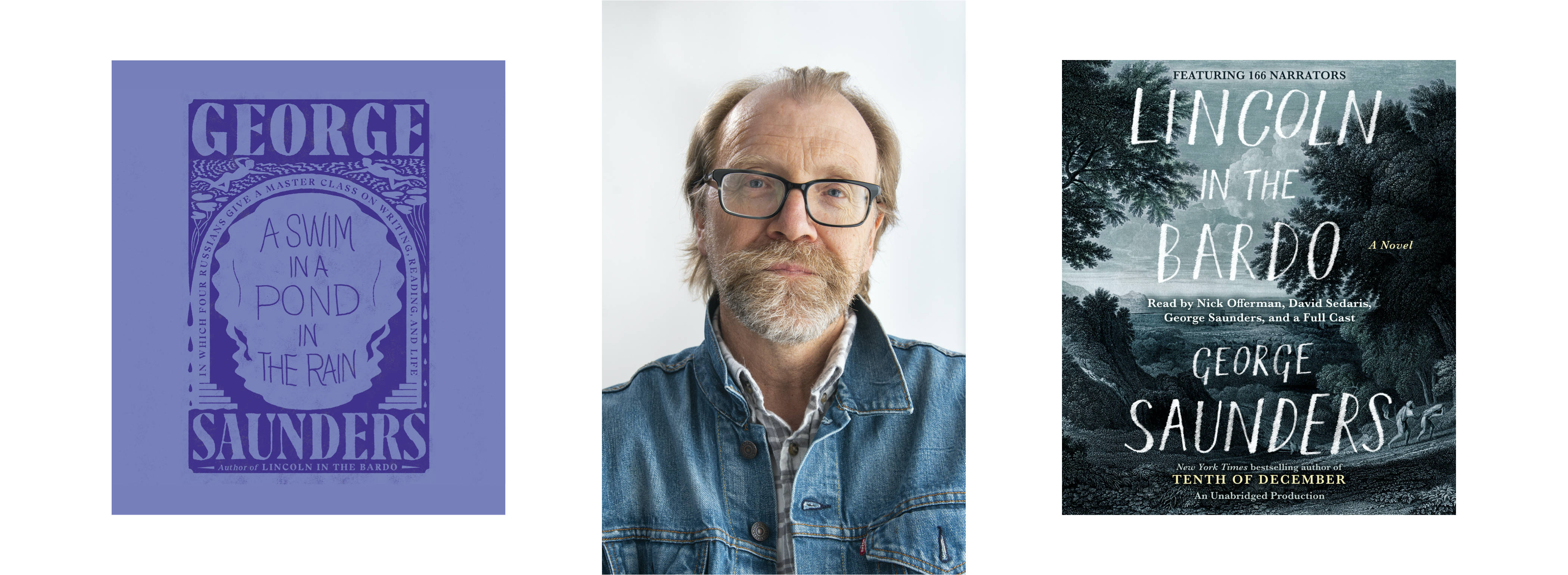 Author and narrator George Saunders (Photo by Zach Krahmer/Penguin Random House Audio)