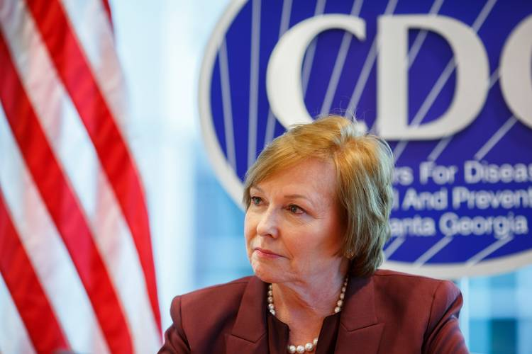 CDC Director Brenda Fitzgerald at the agency's headquarters in Atlanta last month. (Melissa Golden for The Washington Post)