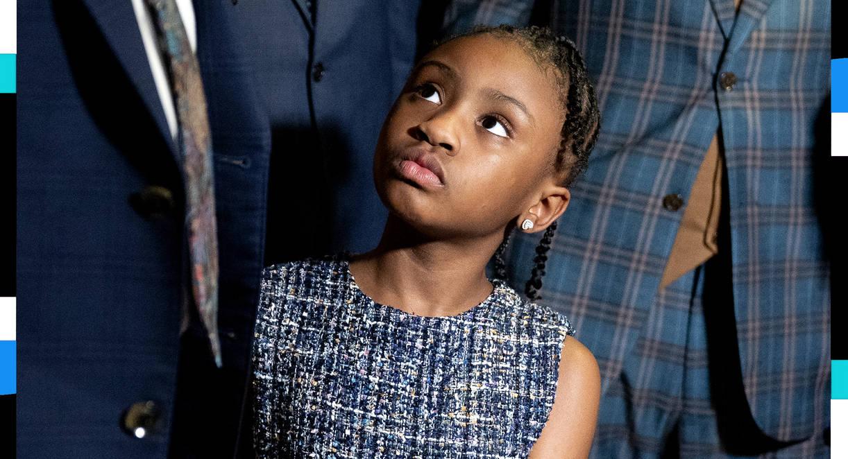 Gianna Floyd, George Floyd's daughter. (Stefani Reynolds/Bloomberg)