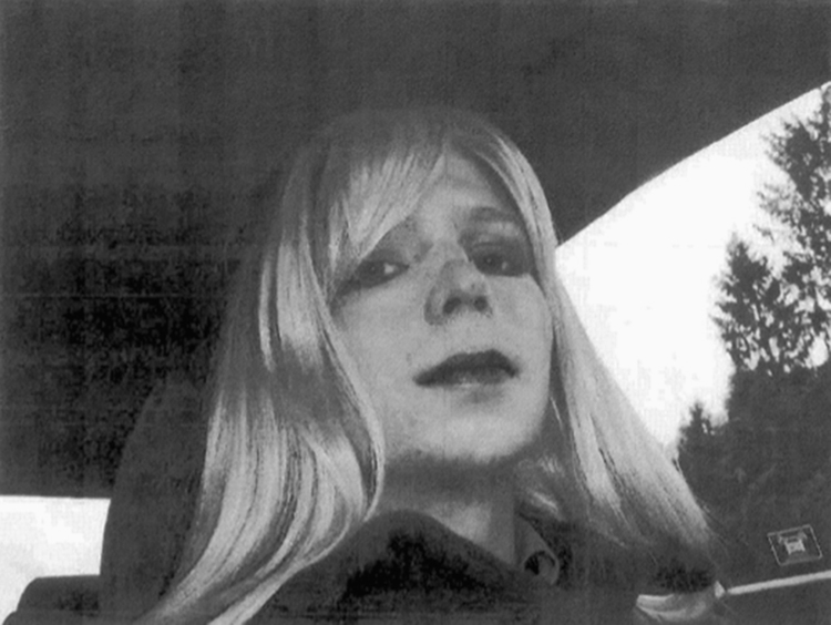 Chelsea Manning poses for a photo wearing a wig and lipstick (U.S. Army via AP, File)/p