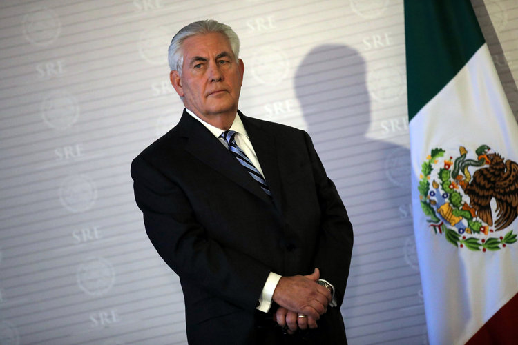 Rex Tillerson visits Mexico City last month. (Carlos Barria/Reuters)/p