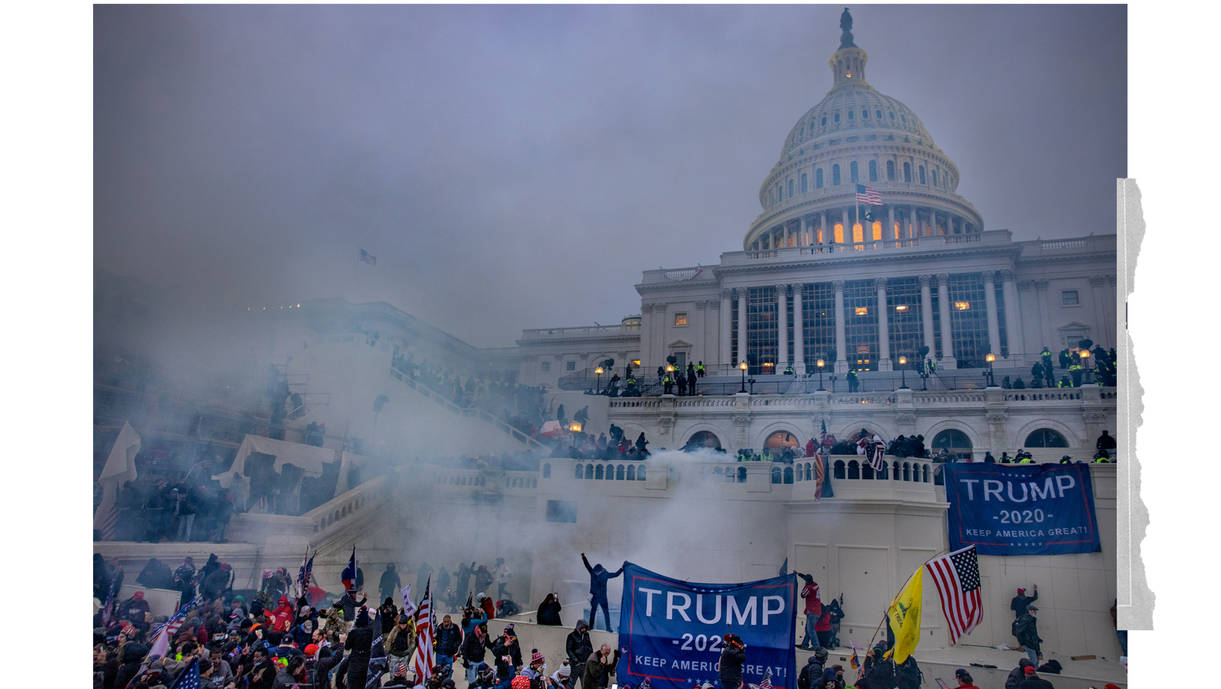 The scene at the U.S. Capitol on Jan. 6. (Evelyn Hockstein for The Washington Post)