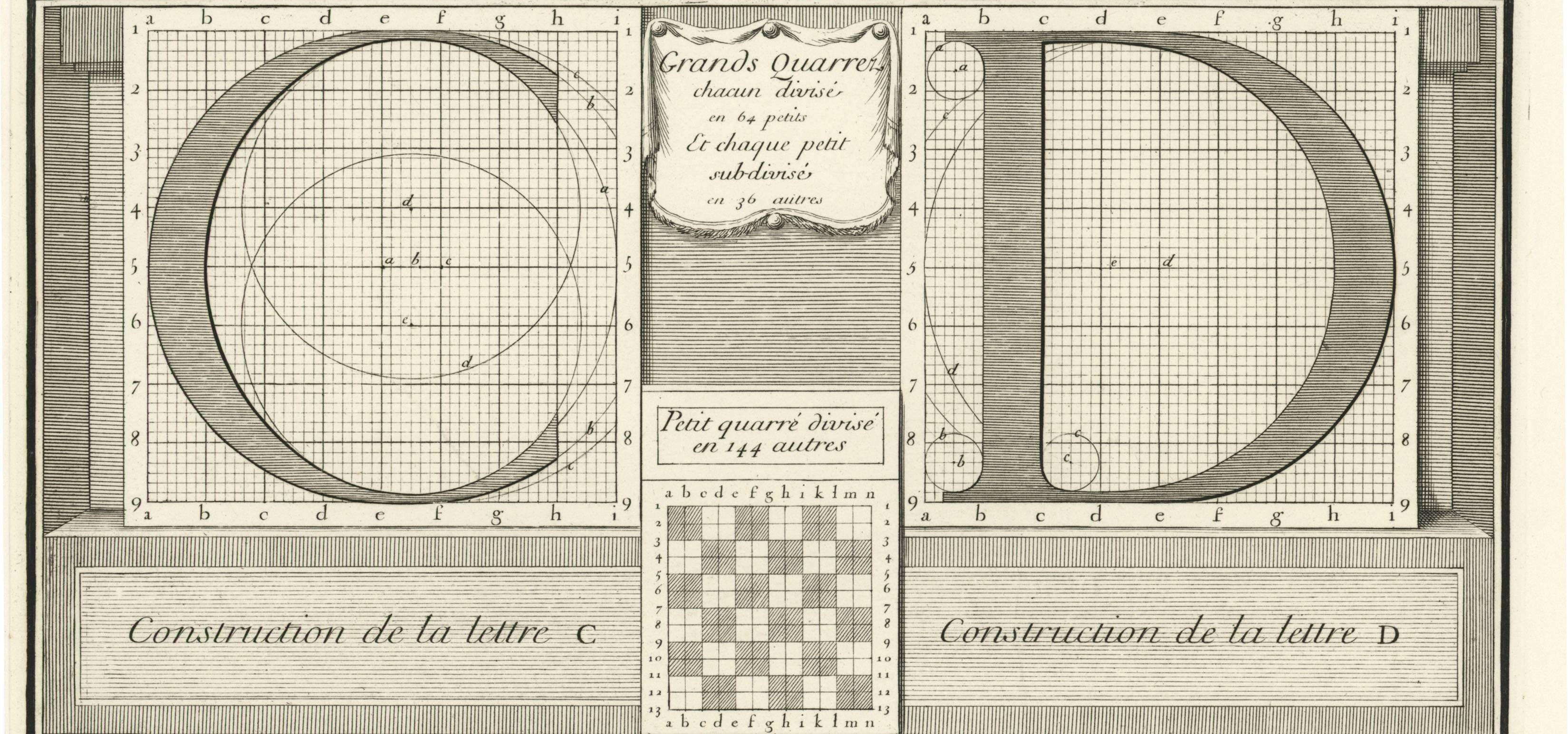 """Illustration from """"Description et perfection des arts et métiers, des arts de construire les caractères,"""" by Philippe Grandjean et al. c. 1704 (Courtesy of the Grolier Club)"""