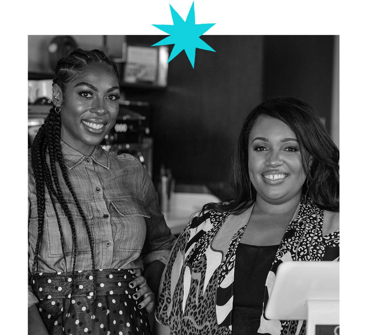 Amanda-Jane Thomas, left, and Shanita Nicholas are the co-founders of coffee house Sip & Sonder. (LaDonn Williams)