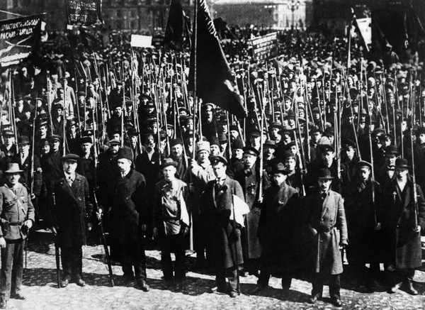 A demonstration in  Moscow during the period of the Russian revolution in 1917. (Tass via Agence France-Presse/Getty Images)