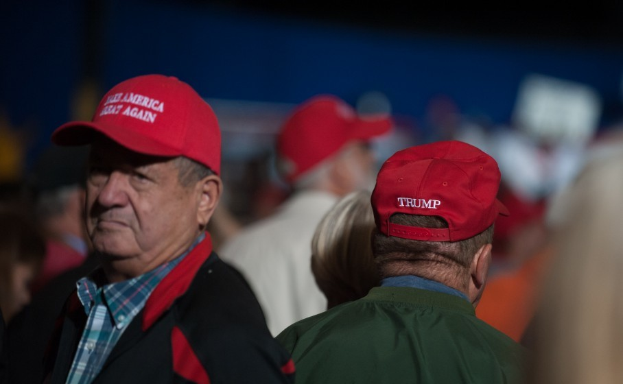 d59f15ceb66 Trump supporters watch him speak near here two weeks before the election.  (Jeff Swensen Getty Images)