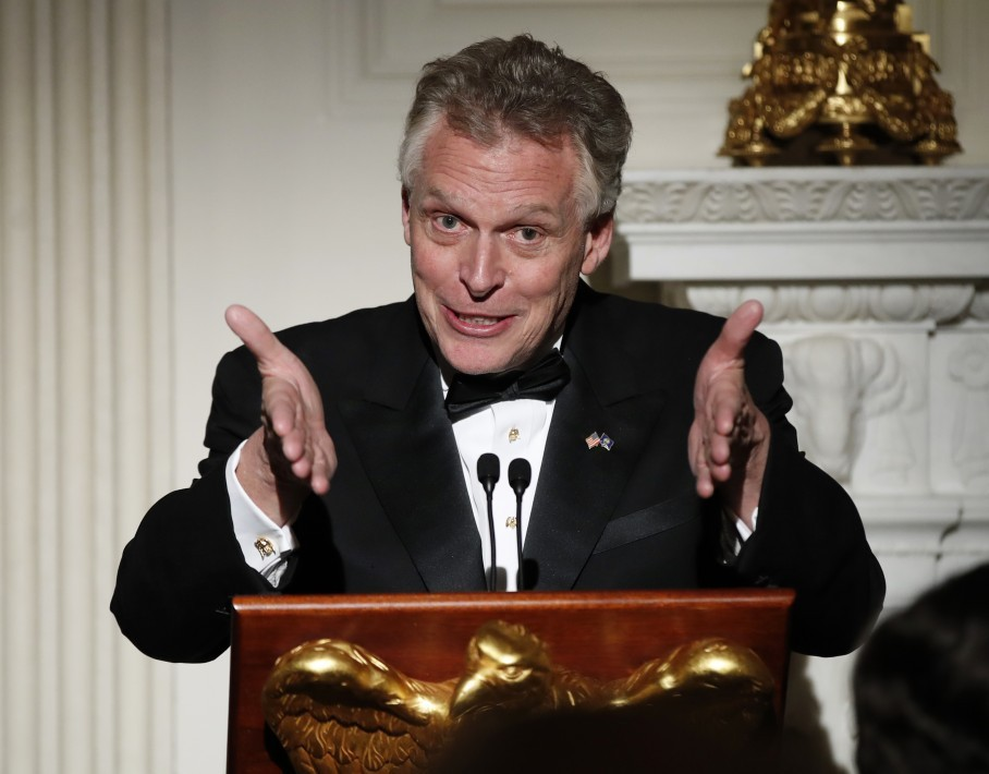 National Governors Association Chairman Terry Mcauliffe D Va Speaks Last Night During A Dinner Reception In The State Dining Room Of The White House