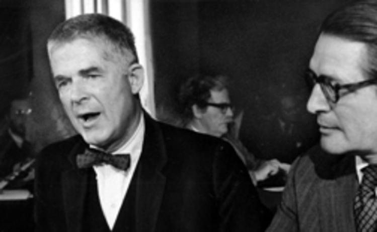 Archibald Cox appears before the Senate Judiciary Committee in 1973. (Bob Burchette/The Washington Post)/p
