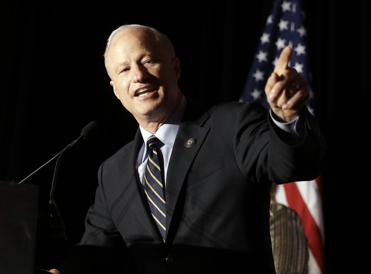 Rep. Mike Coffman (R-Colo.) gives his victory speech last November. He won a very tough race and will have another next year. (Jack Dempsey/AP)/p
