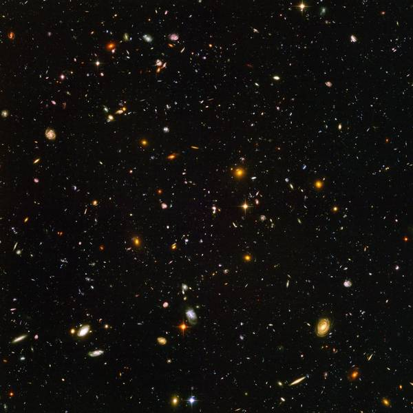 The Hubble Ultra Deep Field, a famous image of some of the most distant observed galaxies taken by the Hubble Space Telescope. (NASA)